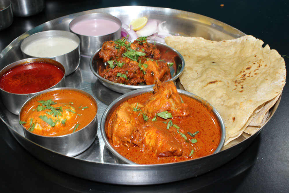 Fried Chicken Thali