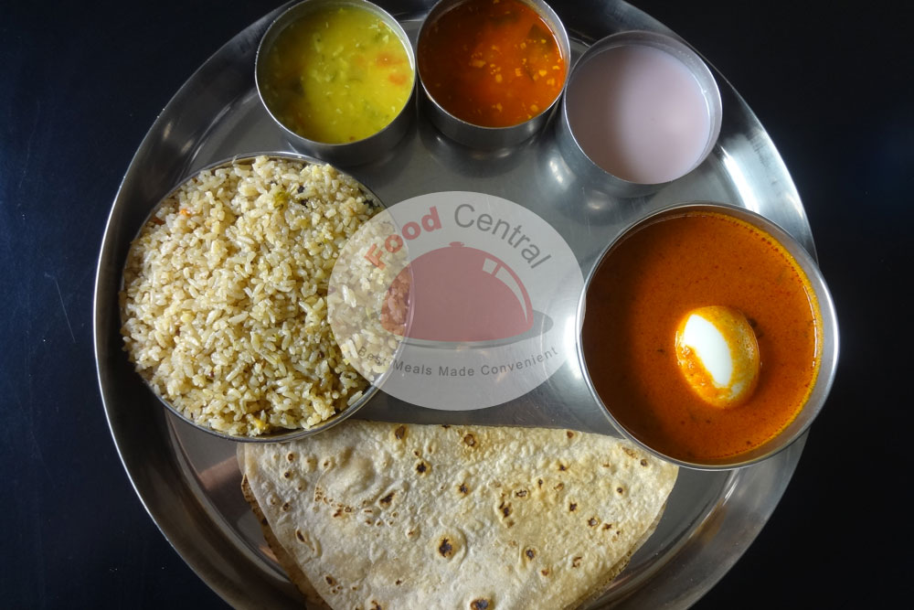 Solo Egg curry Thali